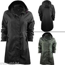2a81d3b48 Womens Brave Soul Jacket Ladies Raincoat Fishtail Waterproof Parka Plain  Hooded