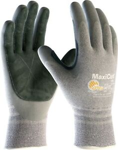 12 x MaxiCut 34-470LP Palm Coated Leather Palm KW High Cut Protection Gloves