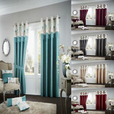 Luxury KOH Curtain Fully Lined Eyelet Ring Top Pair of Curtains Ready Made