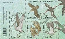 Finland 1996 Used Sheet - Waders - 5 Different Birds - Fauna - First Day Cancel