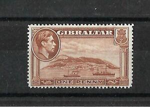 Gibraltar 1938 KGVI 1d yellow-brown, perf 14  LMM (G411)