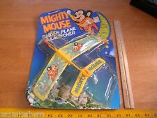 Mighty Mouse glider plane 1977 with card Durham