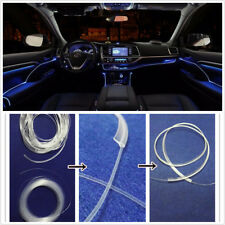 Car Fiber Optic Interior Door Lights Ambient Lamp Blue Color LED Decorative 12V