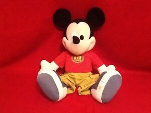 Disney Mickey Mouse Huge Fisher Price Red Shirt Green Pants PlushStuffed