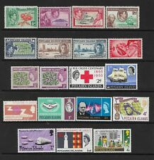 1940 PITCAIRN ISLANDS,19 VALUES, COLLECTION UNMOUNTED MINT,KGVI-QEII