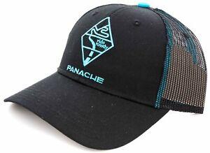 Panache Cyclewear Ride Rowdy Mesh Trucker Hat ONE SIZE Black Snap Close Cycling