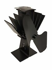 heat powered stove top fan for wood/coal fire burner with free thermometer