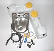 230V  Miniküche Verkaufsstand Bausatz Spüle 325x265x150mm Barwig Grau  Smev