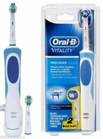 Oral-B Vitality Precision Clean Rechargable Power Electric Toothbrush + 2 Heads