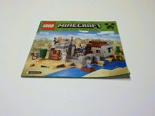 Lego Minecraft The Desert Outpost 21121 Instruction Manual Only