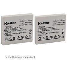 2x Kastar Battery for Sanyo DB-L20 Xacti DMX-CG6 DMX-CG9 DMX-CG65 DSC-J4