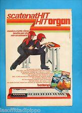 ALTOP970-PUBBLICITA'/ADVERTISING-1970- BONTEMPI - HIT ORGAN