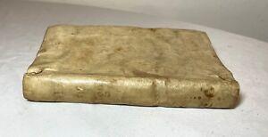 rare antique 1750 Spanish religious vellum skin latin manuscript prayer book