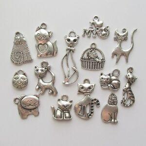 Breloques _ CHAT CAT Modèles au choix _ Perles charms création bijoux bracelet