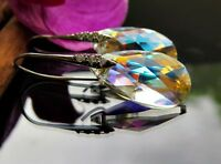 Damen Ohrringe Swarovski Elements Kristall *Aurora Boreale* 925 Sterling Silber