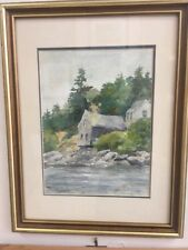 Original Signed Watercolor Painting by Diana Eames Esterly - Maine