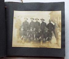 Old Antique HEINN SPECIALTY PHOTO ALBUM 12 Photos SPANISH-AMERICAN SOLDIERS