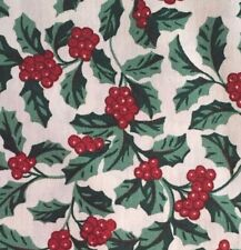 Longaberger Traditional Holly Fabric Bow New in bag