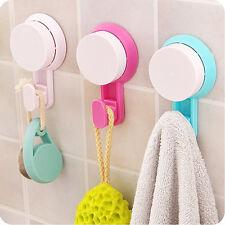 2 x Ganci laccio Porta Asciugamani Asciugamano Gancio Parete Gancio ventosa bagno e WC Bianco