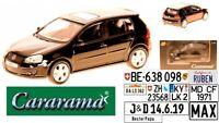 Cararama VW Golf V GTI Schwarz 5 Türer 2003-2008 1: 43 m/o Wunschkennzeichen