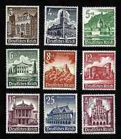 Germany 1940 Buildings, complete set … Mi.751-59 (Sc.B177-B185) … MNH **