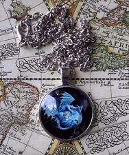WORLD DRAGON Mythology Magick Medieval Magic silver PENDANT NECKLACE &CHAIN