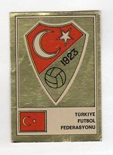 figurina PANINI FOOTBALL CLUBS SCUDETTO DORATO N. 290 TURCHIA