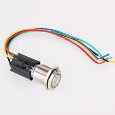 19mm 12V Car Green LED For Angel Eye Push Button Toggle Switch ON/OFF Socket UP