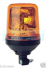 12V/24V VOLT DIN POLE STEM SPIGOT MOUNT HALOGEN ROTATING AMBER BEACON AS LBB270