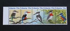 LIBERIA - 1996 SCARCE KINGFISHERS SET IN STRIP5 MNH RR