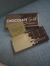 Too Faced Chocolate Gold Bar Metallic Matte Eyeshadow Palette Make Up 16 Colors