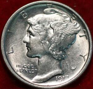 Uncirculated 1917-S San Francisco Mint Silver  Mercury Dime