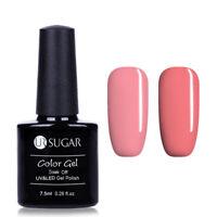 2Bottles/Set Soak Off UV Gel Polish Pink Series Nail Art Varnish UR SUGAR 7.5ml