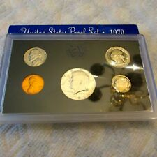 1970-S US Mint SEALED 5 Coin Proof Set KENNEDY 1/2 $ 40% SILVER ORIG BOX