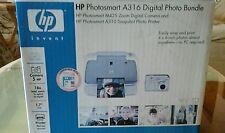 HP PhotoSmart A310 Digital Photo Inkjet Printer w/ Power Supply &Software Bundle