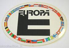 ADESIVO AUTO anni '80 originale / Old Sticker EUROPA GULF (cm 15 x 10,5)