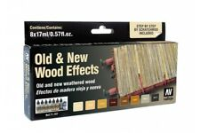 Vallejo 71.187 Effets Bois neuf et ancien - Old and New Wood Effects Set 8x17ml