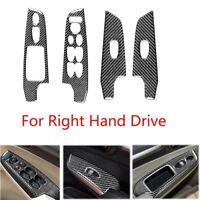 Carbon Fiber Window Switch Panel Trim Cover For Honda Civic 8th 2006-2011 RHD