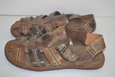 Frye Men's Leather FISHERMANS SANDAL DISTRESSED BROWN NEW SIZE 10 D MEXICO $199