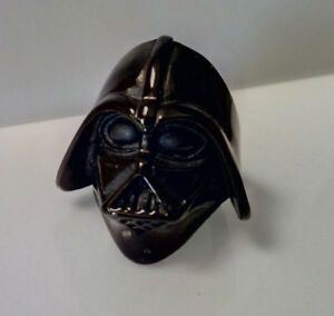 Mens Stainless Steel Black Darth Vader Ring: Size US 10.5