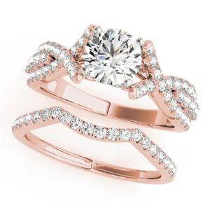 1.92 Ct Diamond Wedding Band 14K Rose Gold Womens Engagement Rings