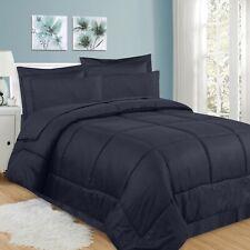 8 Piece Bed In A Bag Greek Key Comforter Set, Navy