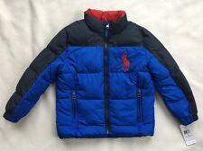 POLO RALPH LAUREN Boys Puffer Jacket Winter Coat Big Pony Blue NWT $175 SIZE 5