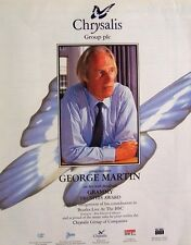the beatles GEORGE MARTIN 1996 Poster Ad GRAMMY TRUSTEES AWARD chrysalis