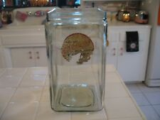 Large Antique 1920's Clear Bubble Glass Wincharger Battery Jar Container Iowa