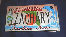 HUGE LOT OF FLORIDA NOVELTY SOUVENIR BICYCLE LICENSE PLATES WITH ASSORTED NAMES
