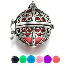 Essential Oil Diffuser Necklace Alloy Aromatherapy Pendant Silver Women Jewelry