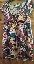 MISO  MULTI COLOUR FLOWER PATTERN SILKY TOP/TUNIC SIZE M(10-14)