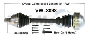 For VW Golf Jetta Audi TT Quattro 1.8L Front Driver Left CV Axle Shaft SurTrack