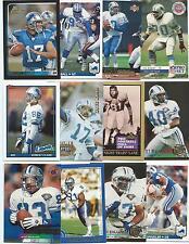 Lof of 100 Different Detroit Lions Cards; 1989-2010; NM-Mint